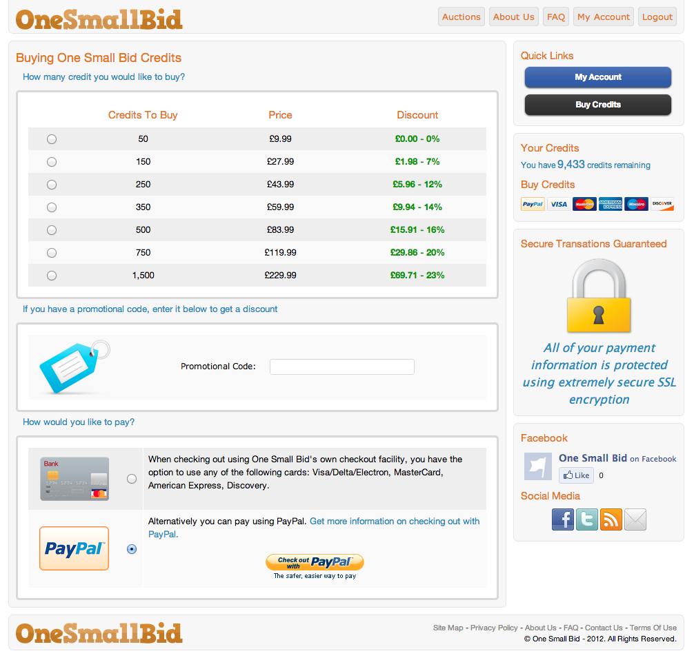 OneSmallBid-buycredits